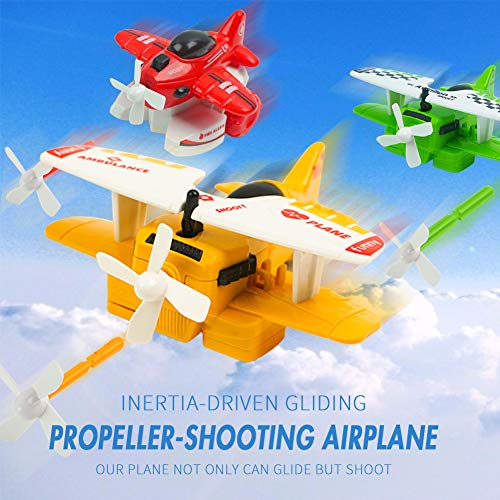 3 otters Pull Back Airplanes Vehicle Playset, 8PCS Airplane Toys Pullback Plane Variety Style Airplane Toys Set Great Gift for Boys Girls