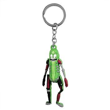 KingJob 3D Pickle Rick Keychain Llavero: Amazon.es: Juguetes ...