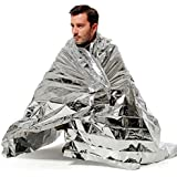 "5 Pack Emergency Blankets 55""x 78"" Survival Blankets Pack for Heat Retention - Perfect for Survival Kits and Go-Bags"