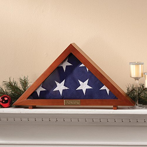 Fox Valley Traders Personalized Display Case for Veterans Burial Flag