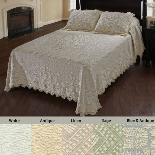 amazoncom abigail adams matelasse bedspread queen antique home u0026 kitchen - Matelasse Bedding