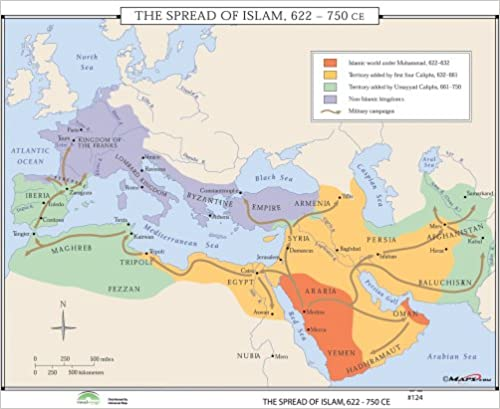 Amazon com: The Spread of Islam (World History Wall Maps