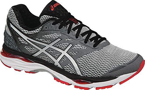 ASICS Men's Gel-Cumulus 18 Running Shoe, Carbon/Silver/Vermilion, 8 M US