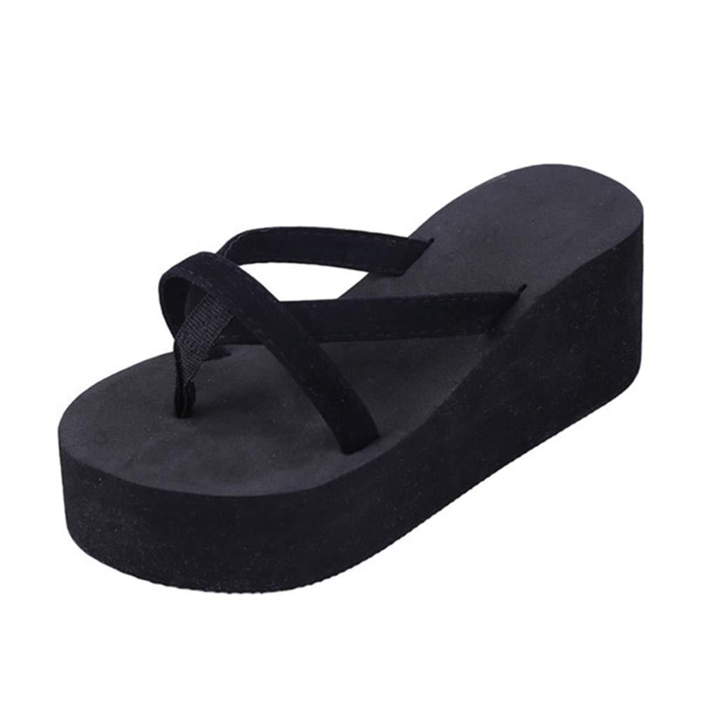 XHCHE Plage d'été Sandales B078WJRKQL Wedges Flops Femmes Slip Flip Flops Shoes Sandales Sandales Casual Chic féminin Ladies Shoes Noir 22dd0c3 - jessicalock.space