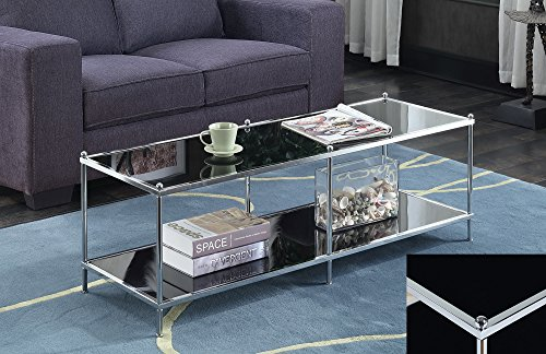 Convenience Concepts 134082B Royal Crest Coffee Table, Chrome/Black Glass ()