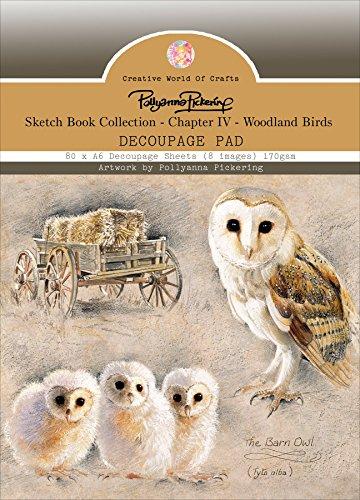 Pad Decoupage (Pollyanna Pickering Sketchbook A6 Decoupage Pad 80/Pkg-Ch.4 Woodland Birds, 8)