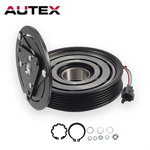 AUTEX AC A/C Compressor Clutch Assembly Kit 92600JA00A Replacement for 2007 2008 2009 2010 2011 2012 NISSAN ALTIMA 4CYL 2.5L 2007 2008 2009 2010 2011 2012 Nissan Sentra 4CYL - Ac Replacement Clutch