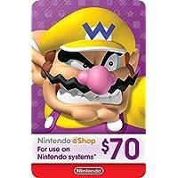$70 Nintendo eShop Gift Card [Digital Code]
