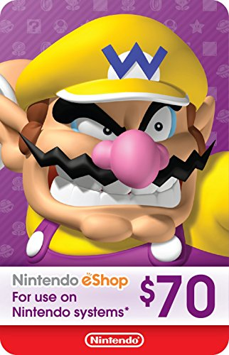 Wii Points Card Code - eCash - Nintendo eShop Gift Card $70 - Switch / Wii U / 3DS [Digital Code]