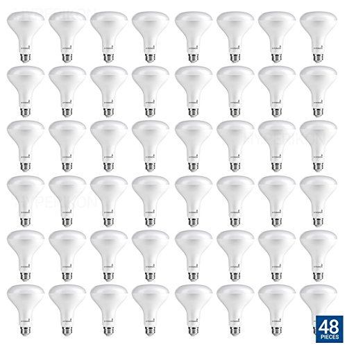 Hyperikon BR30 LED Bulb Dimmable, 9W (65W Equivalent), 3000K (Soft White Glow), Wide Flood Light Bulb, Medium Base E26, UL & ENERGYSTAR - Great for Bedroom Lighting, Living Room, Dining Room (48 Pack) by Hyperikon