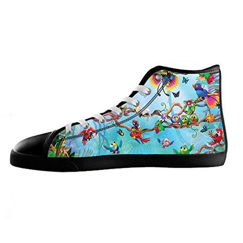 Custom Vogel und Wald Mens Canvas shoes Schuhe Lace-up High-top Sneakers Segeltuchschuhe Leinwand-Schuh-Turnschuhe A