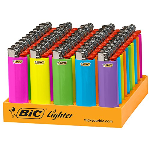 BIC Classic Lighter, Fashion Assorted Colors, 50Count Tray -