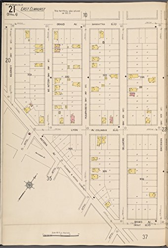 Map Poster   Queens V  10  Plate No  21  Map Bounded By Grand Ave   Ericsson  Banks Ave   Astoria Ave   Kearney  32  X 24
