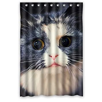 Funny Cat Shower Curtain   Awesome Bathroom Shower Curtains Polyester  Waterproof 48 Wide X 72 High