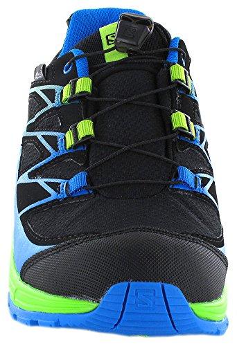 Salomon L39055600, Zapatillas de Trail Running para Niños Negro (Black /             Granny Green /             Bright Blue)