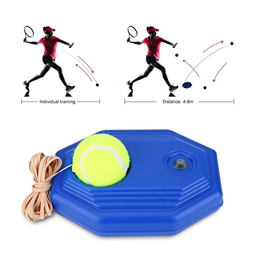 - Alomejor Tennis Ball Base, Back Trainer Set with Rubber Elastic Rope for Single Person Practice