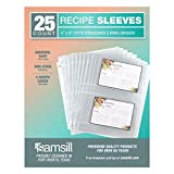 Samsill 25 Pack Clear 4x6 Recipe Card