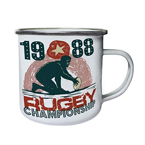 Enamel 1988 (1988 Rugby Championship Retro,Tin, Enamel 10oz Mug ff271e)