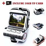 Car Video, Car Camera Built In WiFi, On-Dash Cameras with Sony 323 Sensor, Super Night Vision Car DVR,170¡ãWide Angle WDR Lens Dashboard Camera,HDR,G-Sensor (FREE 16gb TF Card Included)