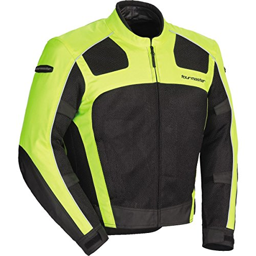 Tour Master Draft Air Series 3 Men's Textile Sports Bike Racing Motorcycle Jacket - Hi-Viz/Black / - Jackets Bike Racing