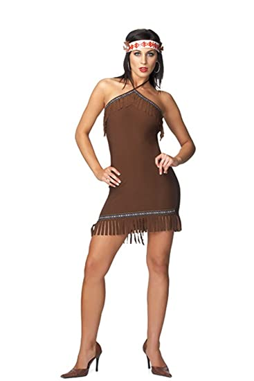 0680ed63b Amazon.com  Sexy Halloween Costumes Pocahontas Indian Girl Costume One Size  Fits Most  Clothing