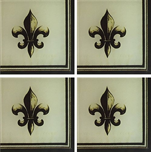 Chateau Fleur de Lis Coasters for Drinks 4x4