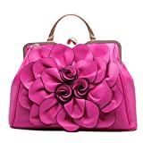 SUNROLAN Women's Evening Clutches Handbags Formal Party Wallets Wedding Purses Wristlets Ethnic Totes Satchel (Rose Red)