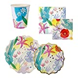 Calisea Matchy Matchy Party Set for 16, Painted Flowers