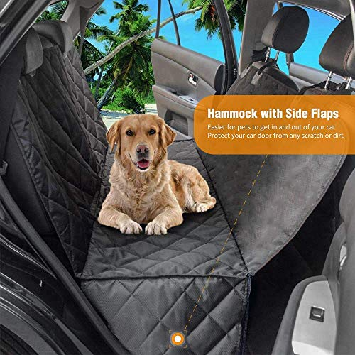 Black Water Resistant Rear Car Seat Dog Pet Cover for Ford Kuga All Years
