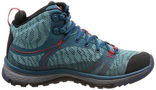 Chaussures Mid WP Fiery Red Coral Hautes Randonnée KEEN Terradora Bleu Blue de Femme xwBW4t