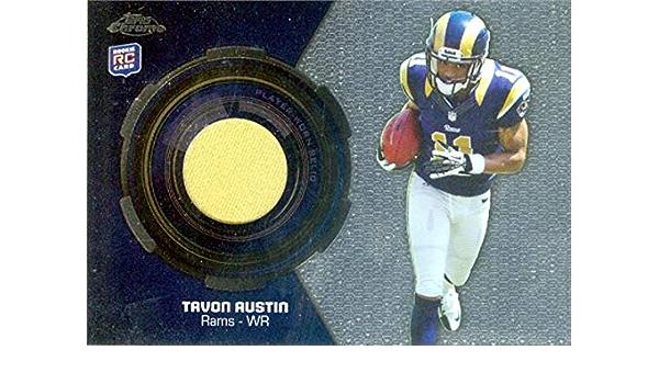 Amazon.com: Tavon Austin player worn jersey patch football card ...