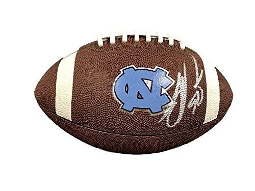 (Julius Peppers North Carolina Tar Heels Signed UNC Logo Football - PSA/DNA Certified - Autographed College Footballs)