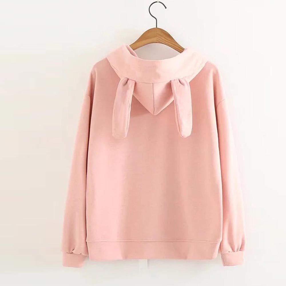 SINARU Women Hoodie Sweatshirt Casual Rabbit Ear Long Sleeve Pullover Top Blouse at Amazon Womens Clothing store:
