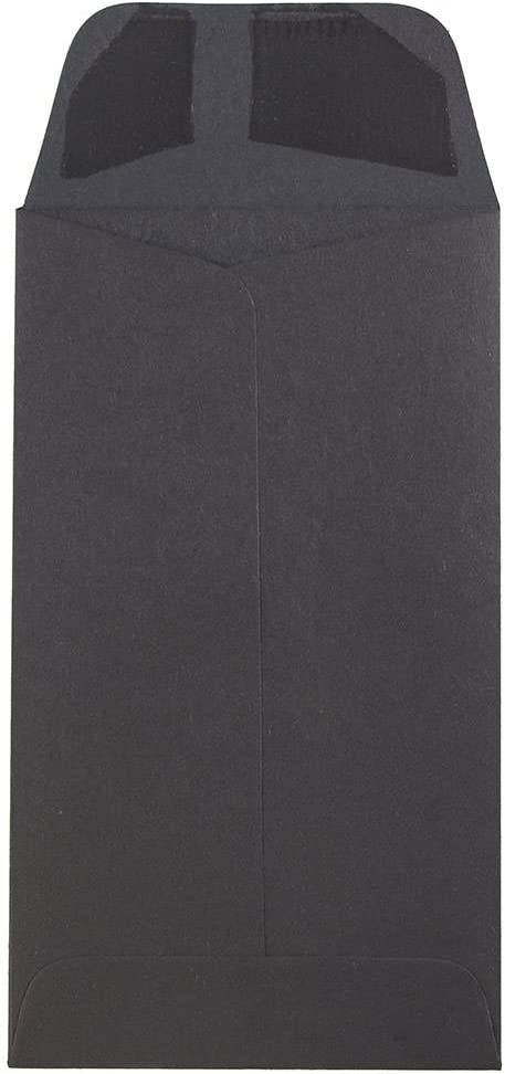 JAM PAPER #5.5 Coin Business Envelopes Smooth Black 3 1//8 x 5 1//2 50//Pack