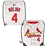 MLB St. Louis Cardinalsmolina Y. #4 Drawstring Backpack, ST. Louis Cardinals, One Size