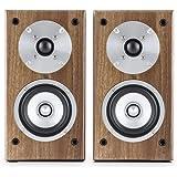 Auna Linie 501 BS coppia di diffusori da scaffale altoparlanti passivi (tecnologia a 2 vie, midrange di 10 cm e tweeter di 2.5 cm, 50 Watt RMS) - noce