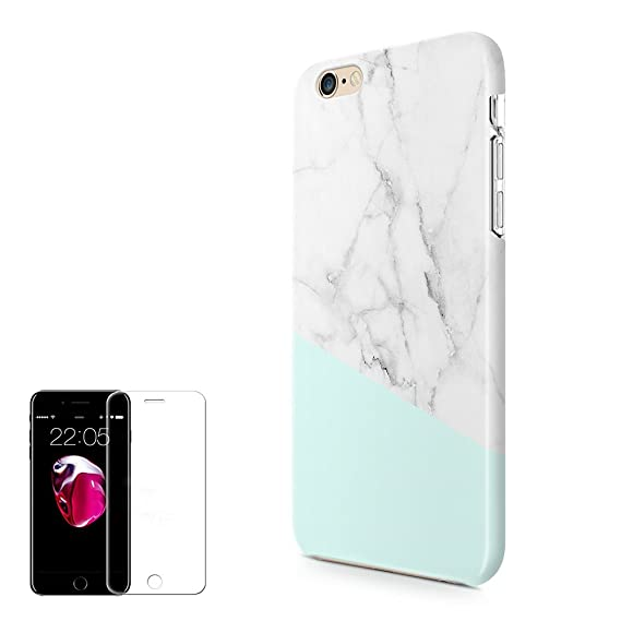 more photos 288c3 dbf19 iPhone 6 Plus/6S Plus Case (5.5 inch) Obbii Unique Tiffany Marble Design  Hybrid Slim Hard Shell+ Inner TPU Protective Durable Cover Case With Clear  ...