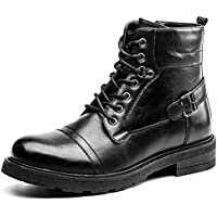GOLAIMAN Men&#39s Combat Casual Motorcycle Army Work Dress Boots