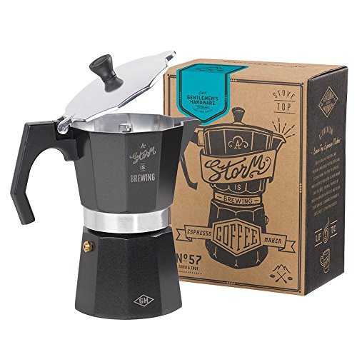 Gentlemen's Hardware Stovetop Coffee Maker, Black