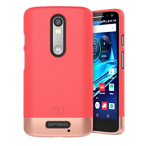 Motorola DROID Turbo 2 Case, Encased® Ultra-thin [SlimSHIELD] (2016) Ultimate Style + Protection (Coral Pink)
