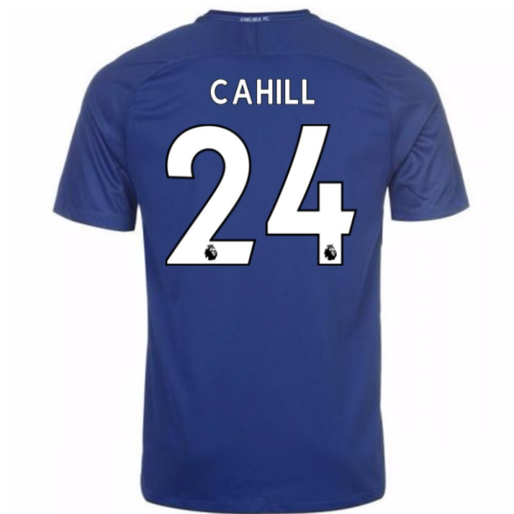2017-18 Chelsea Home Shirt (Cahill 24) B077PRXJ3SBlue XL 46-48\