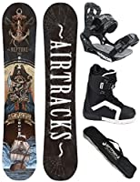 AIRTRACKS SNOWBOARD SET - WIDE BOARD NEPTUNE 158 - SOFTBINDUNG SAVAGE -...