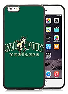 iPhone 6 Plus 5.5 inch NCAA Big Sky Conference Football Cal Poly Mustangs 2 Black TPU Phone Case Unique and Luxury Design