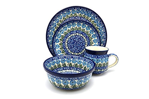 Polish Pottery 4-pc. Place Setting with Standard Bowl - Antique Rose