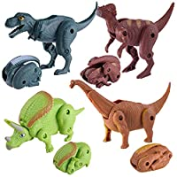 Baby Toy Gift Simulation Dinosaur Toy Model Deformed Dinosaur Egg Collection for Kids Educational Toys by GorNorriss