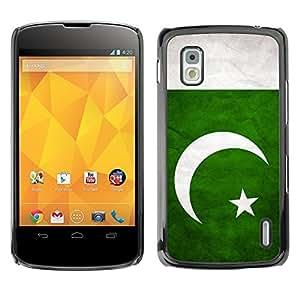 Shell-Star ( National Flag Series-Pakistan ) Snap On Hard Protective Case For LG Google NEXUS 4 / Mako / E960