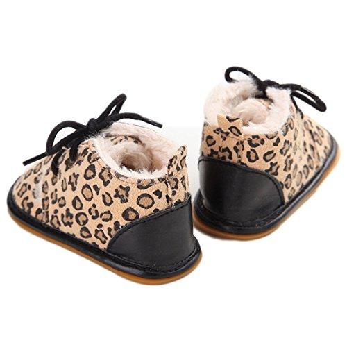 VWH Baby weiche Sohle Schnee Aufladungen Krippe Schuhe Kleinkind Stiefel, 0-18 Monate Leopard