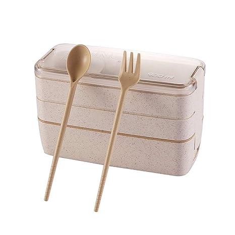 Amazon.com: Fiambreras de paja de trigo Bento, para ...
