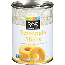 365 Everyday Value, Pineapple Slices in Pineapple Juice from Concentrate, 20 Ounce