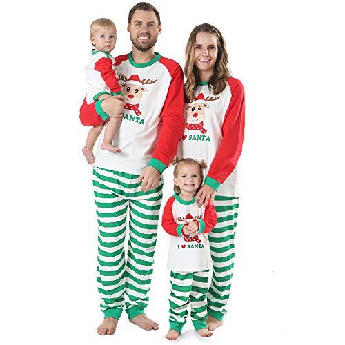 BOBORA I  Santa Family Pajamas, Christmas Matching Jammies Cute Reindeer Sleepwear Set (Medium, Women's)]()
